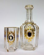 Carafe With Glass About 1850 Medallion Gem Cameo