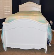 Ashley Exquisite Sleigh Bed Twin White W/ Sealey Mattress And Box Spring.andnbsp