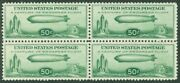Edw1949sell Usa 1933 Sc C18 Block Of 4 Xf Centering Mnh But Small Gum Skips
