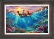 Thomas Kinkade Studios Little Mermaid Falling In Love 18 X 27 Le E/e Canvas