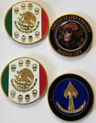 Lot Of 2 Cia Mexico City Station Mexico Coin Iterations 1 And 2