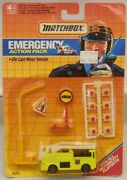 Matchbox Emergency Action Pack Yellow Snorkle Fire Truck And Accessories C.1990