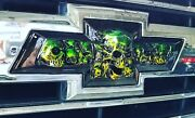 2015-2019 Gm Chevy Colorado Bowtie Skull Emblems, Front Grille And Tailgate Emblem