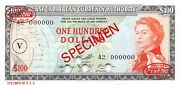 East Caribbean States 100 Nd. 1965 P 16ns Specimen Uncirculated Banknote