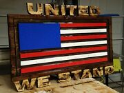 Epoxy Coated U.s Flag Or Blue Lives Matter. We Build All History Flags