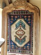 Antique 4and039x6and039 Hand-woven And Pure Wool Designer Rug