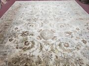 9and039 X 12and039 Vintage Hand Made Turkish Oushak Tea Washed Wool Rug Carpet Nice