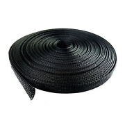 100 Feet 3/4 Expandable Wire Cable Sleeving Sheathing Braided Loom Tubing Black