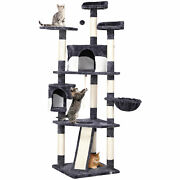 79 Large Cat Tree Tower Condo Scratching Post Pet Play House(gray And White