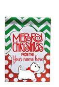 Merry Christmas Add Your Family Name Good For Gift 12 X 18 / 1' X 1.5'feet