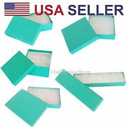 Teal Green Cotton Filled Gift Boxes Jewelry Cardboard Box Lots Of 122550100