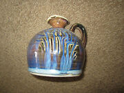 "Greg Olson Art Pottery Pitcher Signed California Stoneware Handmade 4.5"" Tall"