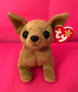 Ty Beanie Baby Tiny The Chihuahua Dog With 3 Errors Rare, Excellent Condition