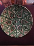 Vintage Domingo Punter Spanish Art Pottery Rare Wall Plaque/Plate Signed