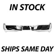 New Chrome Steel Rear Bumper Face Bar Shell For 2005-2015 Toyota Tacoma 05-15