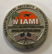 Tsa Transportation Security Administration Miami Airport Award For Excellence