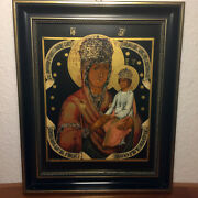 Vintage Villeroy Boch Porcelain Russian 19th Century Icon God Mother Of Passion