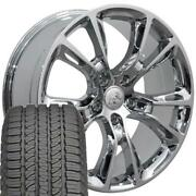 20 Rims Tires Fit Jeep Dodge Grand Cherokee Srt8 Chrome Wheels Gy Tires 9113