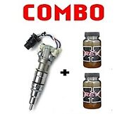 8x Reman 175cc Injectors + 2 Rev-x Oil For 03-07 Ford 6.0l- 600 Core Required