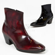 Newstylish Mens Fashion Shoes Footwear Plain Leather High Heel Ankle Boots
