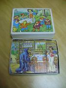 Disney Changeable Snow White And The Seven Dwarfs Wood Blocks Puzzle