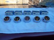 Set Of 5 1969 -1970 N.o.s. Mustang Shelby Wheel Center Caps