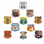Route 66 Plate Vintage Metal Tin Signs Gas Garage Decor Art Wall Poster 3030cm