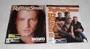 U2 Rolling Stone Magazine Issue 499 W/ Bono Issue 510 Lot Of Two 2 From 1987