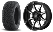 5 Mo970 17x9 Black Machined Wheels Tires Package 5x5 33 At Jeep Wrangler Jk