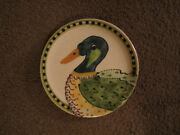 California Studio Art Pottery signed Duck Rothwoman Plate