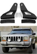 Led Light Bar Mounting Brackets 52 And 50 Curved For Jeep Cherokee Xj 1984-2001