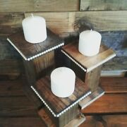 Beautiful Wood Hand Made Candle Holders In A Variety Of Finishes