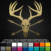 Antlers Skull Arrows Bow Hunter Horns Buck Hunting Decal Sticker