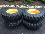 4 New 12-16.5 Camso Sks332 Skid Steer Tires And Rims For Case 1845c And Others