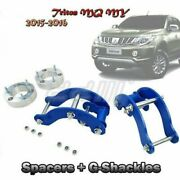 Lift Kit Suspension Front Spacer+rear G-shackle Fits Mitsubishi Triton Mq My 15+