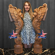 ❤️sculpture Gryphon For Stairs✅wood Carved Statue Figure Artwork 3d Picture Icon