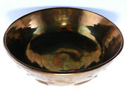 LUSTERWARE FOOTED COPPER GLAZE BOWL WOODS SCENE WITH DEER PERFECT and BEAUTIFUL