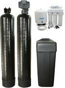 Softener 48k And Upflow Carbon 1.5 Cubic Ft Filtration And Drinking Water System