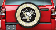 Pittsburgh Penguins Nhl Logo Vinyl For Spare Tire Cover Decal, Wheel Cover