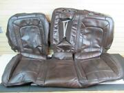 2016 Lincoln Mkx Rear Seat Covers Upper And Lower Brown Leather Blemishes