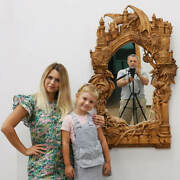 ❤️️amazing Wood Carving❤️️frame And Mirror Game Of Thrones❤️️dzoz Art Museum