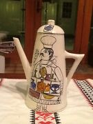 Ceramic Hand Painted Coffee pot Made In Italy