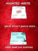 Haunted-write Magic Trick By Christophe Rossius English/french Magic Trick