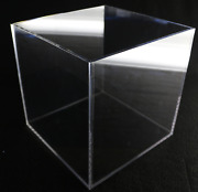Large Acrylic Display Box Collectible Display Case Clear Store Display 10x10x10
