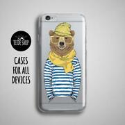 Bear Hipster Iphone 8 Case Clear Iphone 8 Plus Case Iphone 7 Case Phone Case