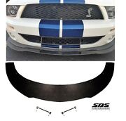 Front Splitter + 2 Longacre Support Rods For 2007-2009 Shelby Gt500 Mustangs