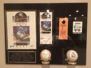 1993 Florida Marlins Inaugural Year Baseball Authentic Opening Day Collage Mint