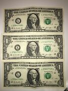 Rare 3 Us Dollar Notes All In Sequence