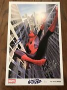 Amazing Spider-man Poster Signed By Tom Holland Stan Lee Alex Ross W/ Jsa Coa