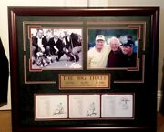 Jack Nicklaus Gary Player And Arnold Palmer Signed Masters Scorecards Collage Coa